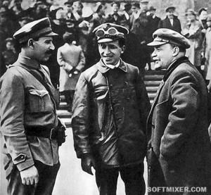 Ленин с коллегами и водителем Гилем