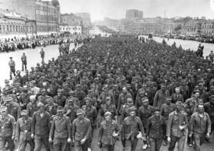 колонна немцев в сталинграде